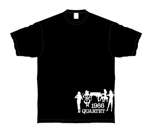 1966 QUARTET Tシャツ(黒/M)