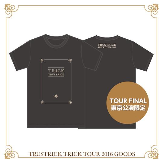 TRICK TOUR Tシャツ(スモークブラック)(S)