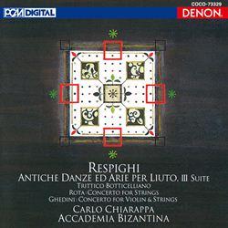 レスピーギ:リュートのための古風な舞曲とアリア/ゲディーニ&ロータ:協奏曲