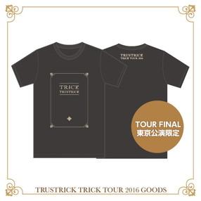 TRICK TOUR Tシャツ(スモークブラック)(XL)